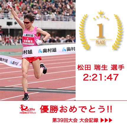 優勝おめでとう!No.06 : 松田 瑞生 – MATSUDA, Mizuki